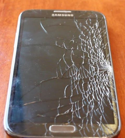 Samsung Galaxy Cracked Glass