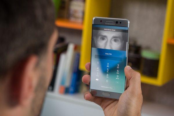 Galaxy S8 iris scanner pic