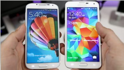 Samsung-S4-VS- iPhone-5-Display