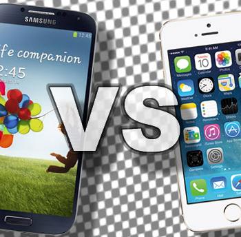 iPhone 5 VS Samsung S4