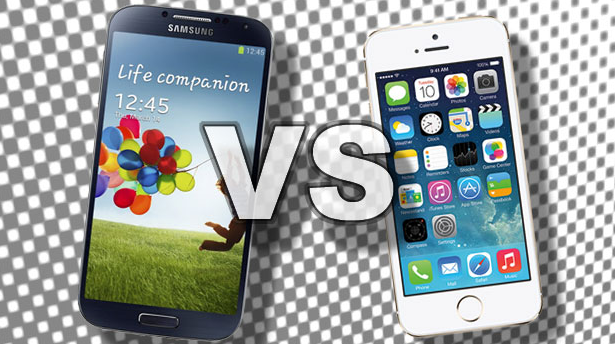 iPhone 5 VS Samsung S4
